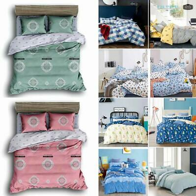Luxury Soft Bedding Set With Duvet Quilt Cover Pillow Case Sheet for Kids Adults