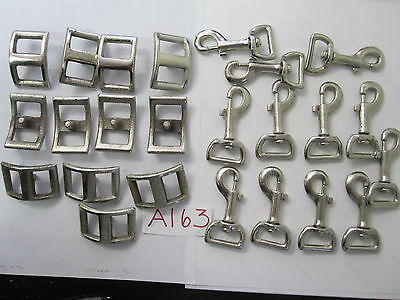 "24 PCS Buckles & Snap Hooks -- 12x 3"" Snap Hooks and 12 Solid Buckles"