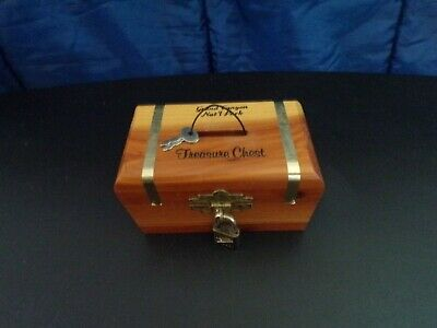 Vintage Wooden Hinged Treasure Chest Coin Bank Grand Canyon Treasure Chest