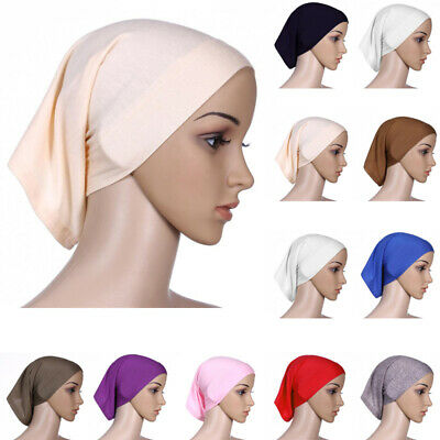 Islamic Muslim Women's Head Scarf Fitted Underscarf Hijab Cover Headwrap Bonnet