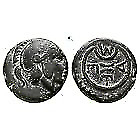 350BC Authentic Ancient Greek Coin Thrace Mesembria Athena Wheel 1,95g/11mm