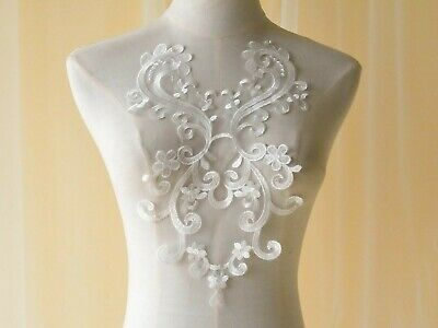 Floral Bridal Dress Costume Applique Embroidery Wedding Craft DIY Lace Motif 1PC
