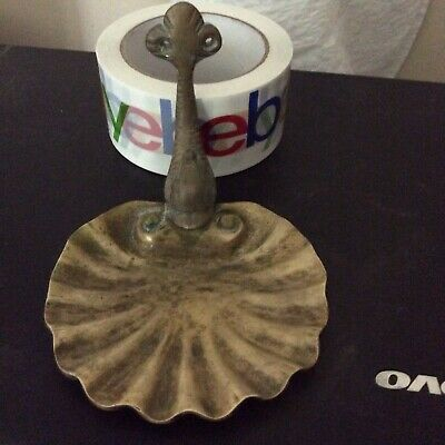 Antique Brass Dolphin & Shell Soap Dish Wall Mount vintage Bathroom Restore
