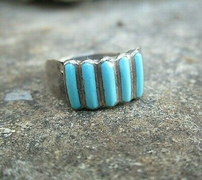 zuni indianer ring  handmade sterling türkis 17mm