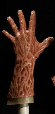 Halloween evil silicone incubus freddy hand only without mask fleshy wet version