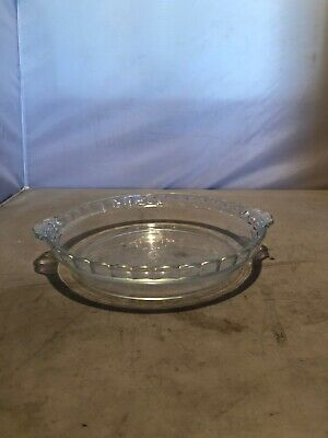 Vintage Pyrex #237 Pie Plate Deep Dish Clear Fluted Edging