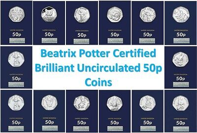 2016 2017 2018 2019 BU Beatrix Potter 50p Fifty Pence Coins - Choose Your Coin