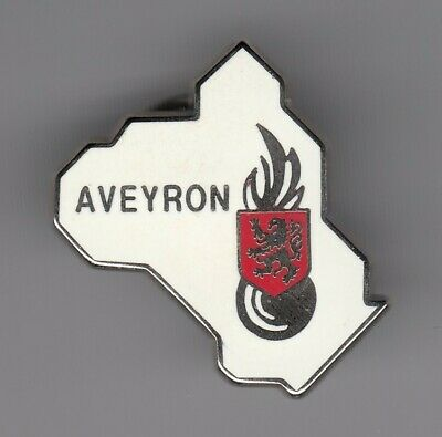 Rare Pins Pin's .. Gendarmerie Nationale Carte Map Departement Aveyron 12 ~El