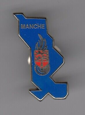 Rare Pins Pin's .. Gendarmerie Nationale Carte Map Departement Manche 50 ~El