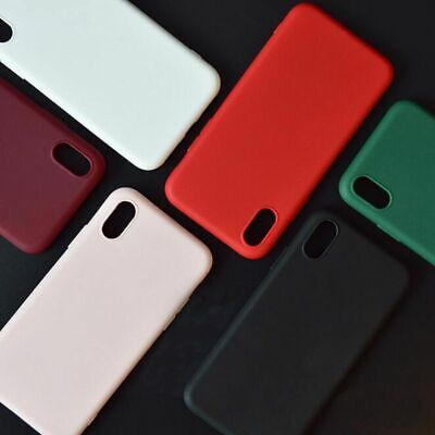 Phone Case Candy Colors Wine Soft Silicone Cover For iPhone 6 7 8 X R Max