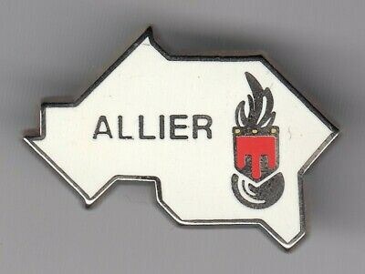 Rare Pins Pin's .. Gendarmerie Nationale Carte Map Departement Allier 03 ~El