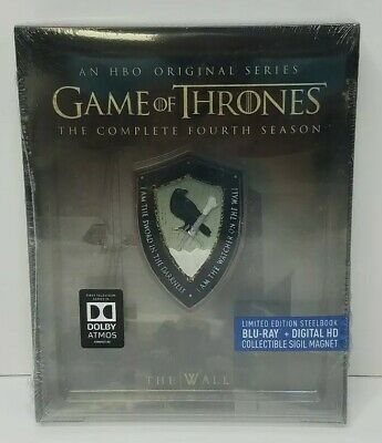 Game of Thrones The Complete 4th Season Blu-Ray SteelBook+Sigil Magnet SEALED
