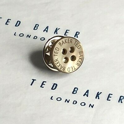 521397639d9f Mens TED BAKER Tie Lapel Pin Tack OLIVE Mother of Pearl Shirt Button Gift  Ideas