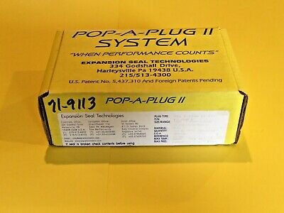 New Expansion Seal Technologies Pop a Plug II P2-560-B Heat Exchanger Condenser