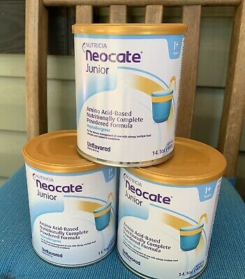 *sale 24hrs* 3 Cans Neocate Jr Unflavored Expiration 2020