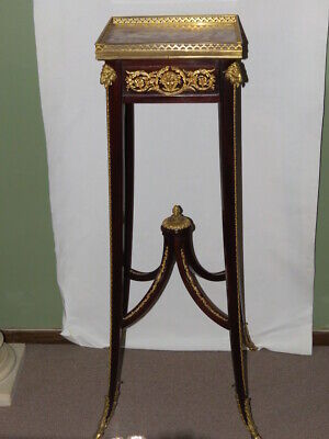 VERY FINE FRENCH Louis XVI STYLE ORMOLU MOUNT PEDESTAL STAND by FRANCOIS LINKE
