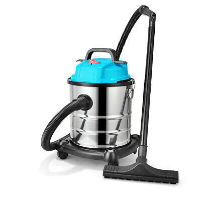 Blue Wet and Dry Vacuum Cleaner Industrial 20 L 220V Dust Extractor With Blower