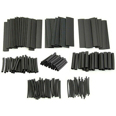 127Pcs Heat Shrink Heatshrink Wire Cable Tubing Tube Sleeving Sleeve Wrap Black