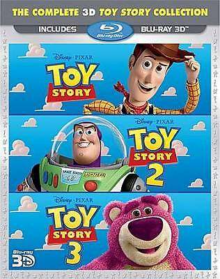 Toy Story 3D Trilogy (Blu-ray 3-Disc Set, 2011) Disney Pixar No Digital 1 2 3