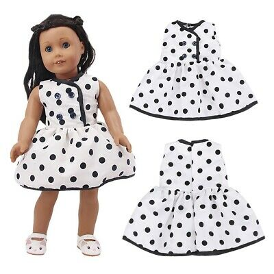 Cute18 Inch American Dolls Dress Polka Dot Cloth Dress Our Generation Dolls