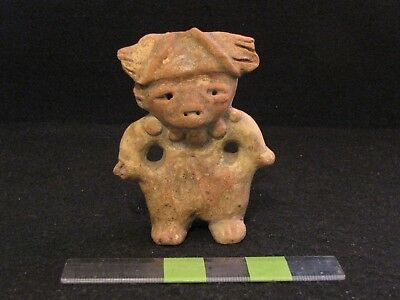 Pre Columbian, Tested, Rare Proto Mayan Solid Figure, Late Form. 300 BC 200 AD