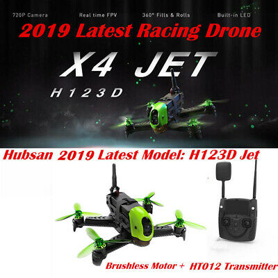 2018 Hubsan H123D X4 Jet Storm Racing Drone Brushless FPV 720P RC Quadcopter USA