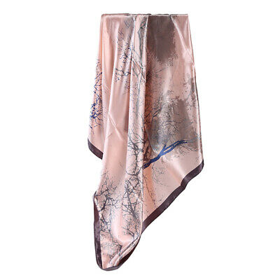 Fashion Scarf Women's Branches Oil Painting Printed Large Square Scarf JJ