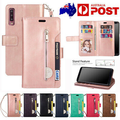⭐For Samsung Galaxy A20 A10 A30 A50 A70  9 Cards Slots Leather Wallet Case Cover