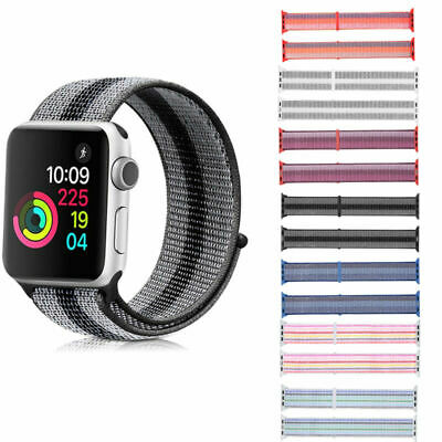 Nylon Sport Loop Watch Band Strap for Apple Watch iWatch to fit Series 4 3 2 1