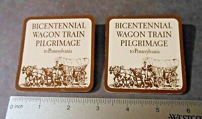 Bicentennial Wagon Train Pilgrimage to Pennsylvania Name Badges Pins- Signed
