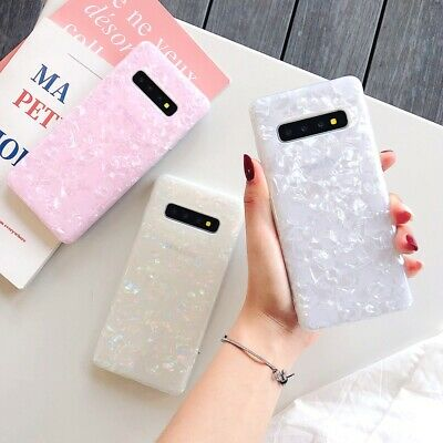 Samsung S10+ S10e S9 S8 S7 Edge Clear Marble Shockproof Silicone TPU Case Cover