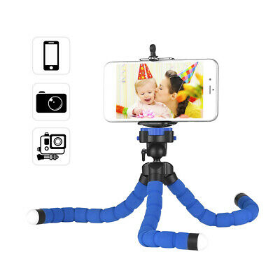 Mini Flexible Sponge Octopus Tripod Stand Holder with Smartphone Clip 1/4 P2O4