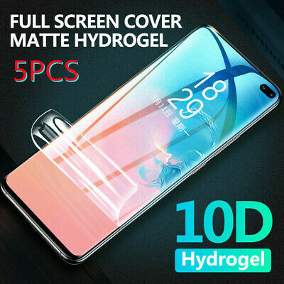 10D Hydrogel Full Cover Matte Film Screen Protector For Samsung Note 10 S10 S9+