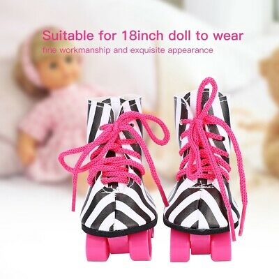 Fashionable Doll Toy Accessories Doll Roller Skate Shoes for 18inch Baby Doll❤BS