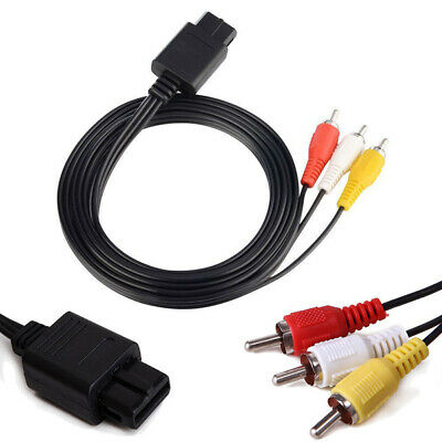 1.8m AV TV Audio Video RCA Cable Cord Lead Wire for Nintendo N64 Gamecube NGC