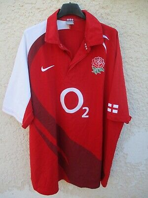 Maillot rugby ANGLETERRE ENGLAND 2008 2009 away NIKE shirt jersey rouge 3XL XXXL