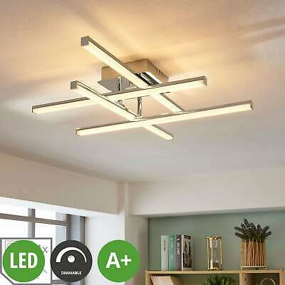 """LED Ceiling Light """"Korona"""" Metal modern Silver dimmable (A+)"""