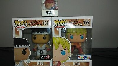 Funko Pop Street Fighter Set Of 2 Exclusive Ryu (Game Stop) & Ken (Toy R Us)