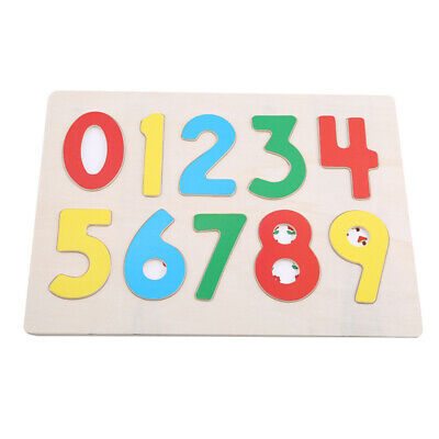 Wood Count Number Matching Digital Match Early Education Teaching Math Toy JJ