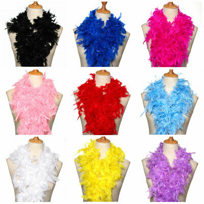 2M Fluffy Feather Boa Flower Craft For Party Wedding Dress Costume Decoration