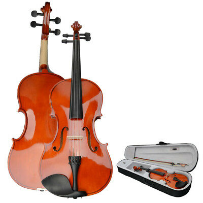 """High Quality Basswood 15"""" Inch Adults Acoustic Viola with Case Bow,Rosin UK"""