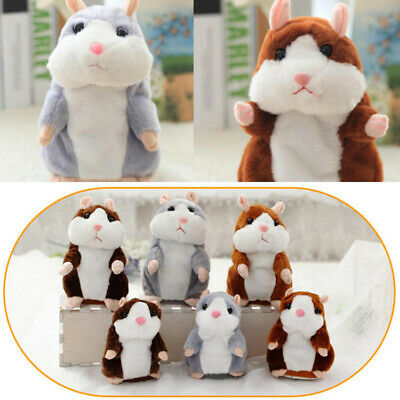 Cute Cheeky Hamster Repeats What You Say Electronic Pet Talking Plush Toy Gift