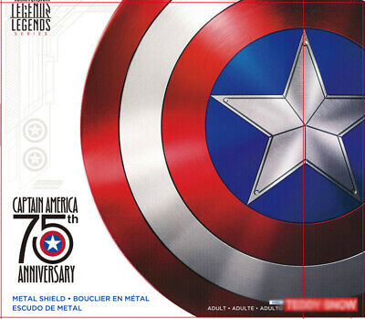 Captain America 75th Anniversary Avengers 1:1 Collection Shield Alloy Metal