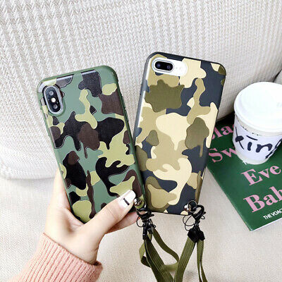 For iPhone X XS Max XR 6 7 8 Plus New Camouflage Soft Phone Case Cover