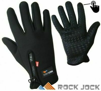 Unisex Thermal Insulated Touch Screen Gloves Non Slip Grip Warm Black Bicycle
