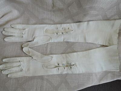 Vintage Women Leather Gloves Size XS