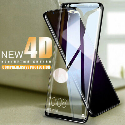 4D Curved Full Cover Temper Glass Screen Protector for Samsung Note8/9 S7/S8/S9*