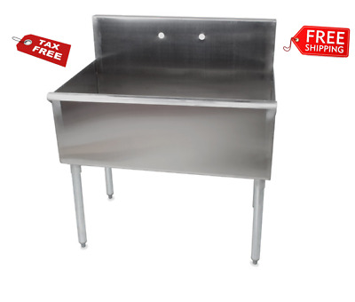 "36"" X 24"" X 14"" Bowl Stainless Steel Commercial Utility Prep 36"" 1 Sink"