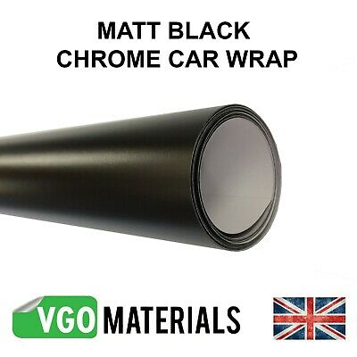 VGOltd Black Chrome Satin Matt Vinyl Car Motorbike Vehicle Wrap Air Release