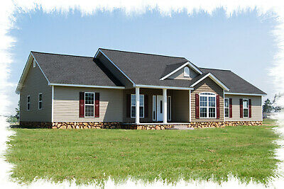 Ranch House Plans 1812 SF 3 Bed 2 Bath Split Floor Plan  (Blueprints)